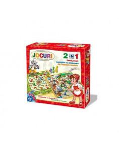 Joc 2 In 1 - Joc Labirintul Cu Scufita Rosie Si Joc Peripetii