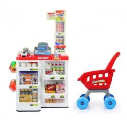 Set de joaca Malplay Supermarket cu carucior, casa de marcat