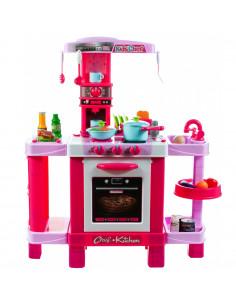 Bucatarie pentru fetite MalPLay cu electrocasnice si accesorii