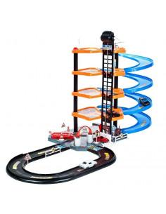 Set de Joaca MalPlay Garaj Circuit cu 4 nivele cu 4 masini, 1
