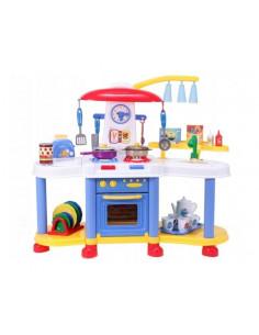 Bucatarie pentru copii MalPLay cu electrocasnice, robinet si