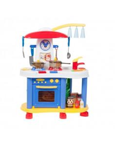 Bucatarie pentru copii MalPLay cu ceas, robinet,carte de bucate