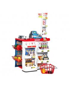 Set de joaca Supermarket Malplay cu cos de cumparaturi, casa de