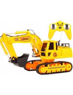 Excavator MalPlay pentru baieti cu telecomanda,sunete si lumini