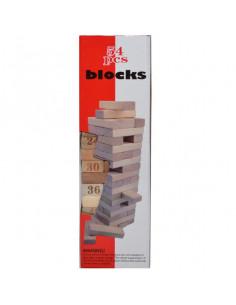 Joc de lemn natur, 54 piese, Turnul cazator
