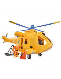 Jucarie Simba Elicopter Fireman Sam Wallaby 2 cu figurine si