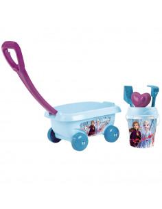 Set jucarii nisip Smoby Carucior Frozen 2 cu accesorii
