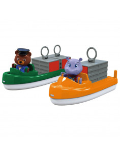 Set AquaPlay 2 barci cu container si 2 figurine
