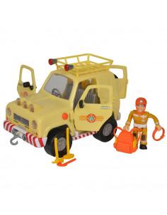 Masina Simba Fireman Sam, Sam Mountain 4x4 cu 1 figurina si