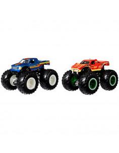 Set Hot Wheels by Mattel Monster Trucks Bigfoot vs Snake Bite