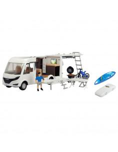 Rulota Dickie Toys Playlife Camper Set cu figurina si accesorii