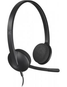 """CASTI Logitech, """"H340"""", cu fir, standard, utilizare multimedia"""