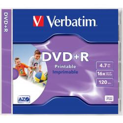 DVD+R VERBATIM 4.7GB, 120min, viteza 16x, 1 buc, Single Layer