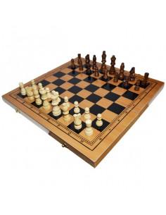 Joc 3 In 1 Sah, Table, Dame, 40x19 Cm, Cutie Lemn