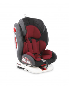 Scaun auto ROTO Isofix, black & red