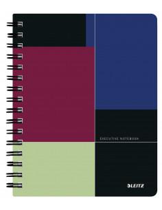 Caiet de birou LEITZ Executive, PP, A5, cu spira, dictando, negru/violet