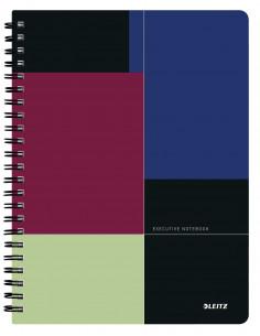 Caiet de birou LEITZ Executive, PP, A4, cu spira, dictando, negru/violet