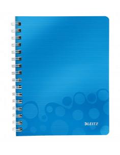 Caiet de birou LEITZ Wow, PP, A5, cu spira, dictando, albastru