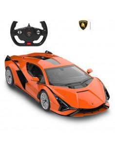 Masina Cu Telecomanda Lamborghini Sian Portocaliu Cu Scara 1 La