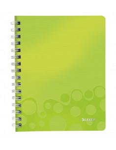 Caiet de birou LEITZ Wow, PP, A5, cu spira, dictando, verde