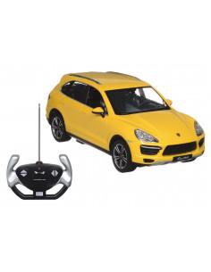 Masina Cu Telecomanda Porsche Cayenne Turbo Galben Cu Scara 1