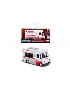 Masinuta Metalica Food Truck A Lui Deadpool Scara 1 La 32