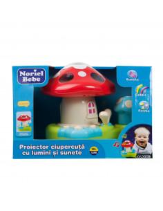 Proiector Ciupercuta Cu Lumini Si Sunete, Jucarie Bebelusi