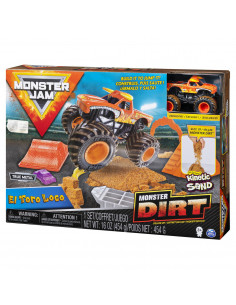 Monster Jam Set Camioneta Cu Nisip Si Accesorii El Toro Loco