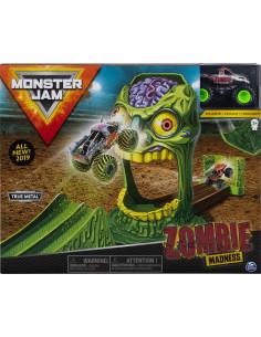 Monster Jam Set Cascadorii Doboara-l Pe Zombie