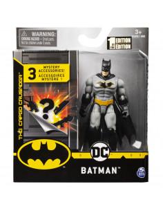 Figurina Batman 10cm Cu Costum Gri Si Accesorii