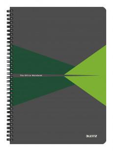 Caiet de birou LEITZ Office, PP, A4, cu spira, matematica, verde