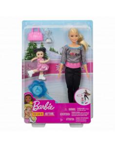 Papusa Barbie Cariera In Sport Antrenoare De Patinaj