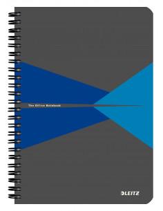 Caiet de birou LEITZ Office, PP, A5, cu spira, matematica, albastru
