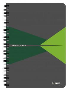 Caiet de birou LEITZ Office, PP, A5, cu spira, matematica, verde
