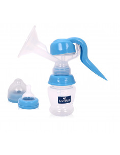 Pompa de san manuala, cu biberon 150 ml inclus, Blue