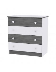 Comoda, White & Vintage Gray
