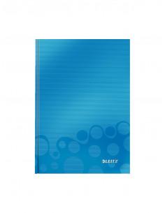 Caiet de birou LEITZ Wow, A5, coperta dura, dictando, albastru