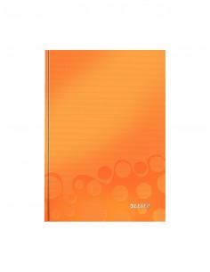 Caiet de birou LEITZ Wow, A5, coperta dura, dictando, portocaliu metalizat