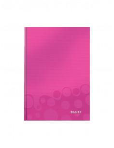 Caiet de birou LEITZ Wow, A5, coperta dura, matematica, roz