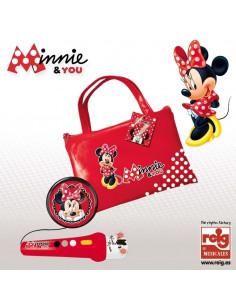 Geanta Cu Microfon Si Amplificator Minnie Mouse Reig Musicales Pentru Copii