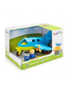 Avion culori vesele cu 2 figurine