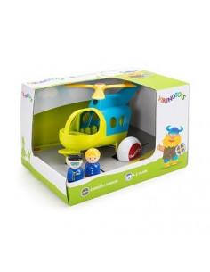 Elicopter culori vesele cu 2 figurine