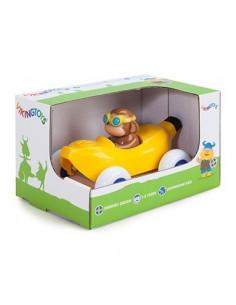 Pilot de curse Maimuta in Masinuta Banana Cute Racer