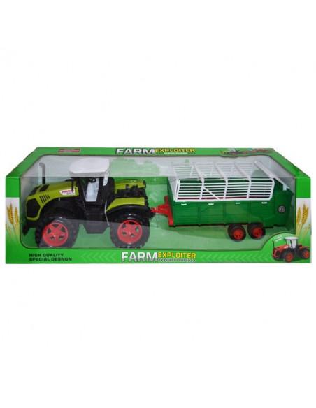 Tractor Fermier Mare Cu Remorca