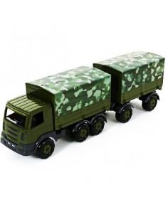 Camion Militar Supertruck Cu Prelata Si Remorca, 71 Cm
