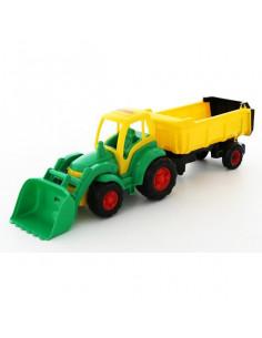 Tractor Champion Cu Incarcator Si Remorca, 86 Cm