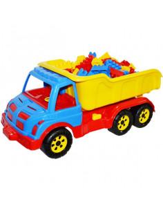 Camion De Plastic Cu 80 Cuburi, 60 Cm