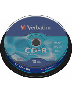 CD-R VERBATIM 700MB, 80min, viteza 52x, 10 buc, spindle