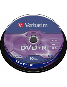 DVD+R VERBATIM 4.7GB, 120min, viteza 16x, 10 buc, Single Layer