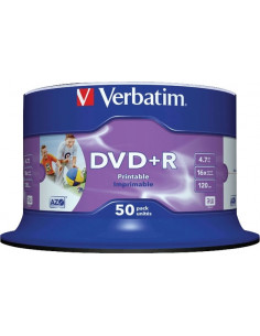 DVD+R VERBATIM 4.7GB, 120min, viteza 16x, 50 buc, Single Layer